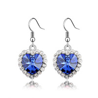 Free Shipping latest design products hot selling wholesale Heart of Ocean earrings