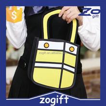 OXGIFT good quality New Fashion 3D Cartoon Comic Women's Backpack/2D Knapsack /Stocked Ladies 3D Shoulder Bag