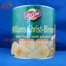 Conservas de pera willliam, pera bartlett mitades en almíbar ligero