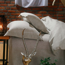 luxury bed linen 100% linen natural linen duvet cover set