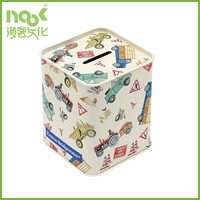 High quality Eco-friendly tin box for money saving and coin collecting