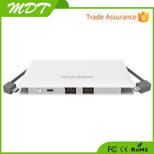 Hot sale in world high quality portable 10000mah quick charge QC2.0 tech built in cable power bank