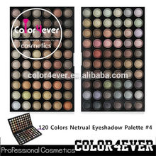 Hot selling Professional 120 netrual colors Makeup Eyeshadow Palette flower color palette
