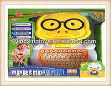 plastic toys intelligent learning machine / laptop / kids computer