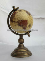 Small Decorative Globe on Aluminum Stand