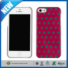 C&T Sublimation cell phone case/cover printing for iphone5 polka dot hard case