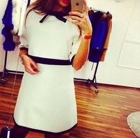 latest dress designs white loose causal ladies white women's dresses wholesale clothing ZC1852