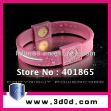 Healthy Power Core silicon wristband with negative ion