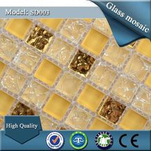 SD003 manufacturer natural stone 6mm thickness glass mosaic tile victory mosaic