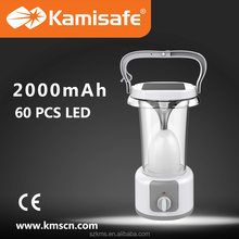 2015 Hot sale LED rechargeable emergency lantern with solar panel charging