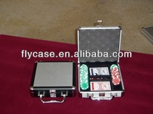 professional custom popular in Europe aluminum poker chip set with roulette with high quality