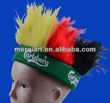2014 football fans wig for club or beer company promotion events