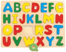 2014 hot venta colouful 26 majuscule chunky cartas rompecabezas of the alfabeto en una carta