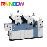 Automatic two colour small offset printing machine
