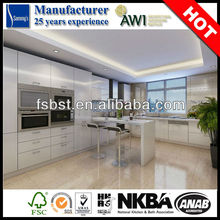 Modern style high gloss white aluminum kitchen pantry design for wet kitchen SK182