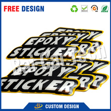 custom logo outdoor Waterrproof strong adhesive Crystal clear resin 3d dome crystal epoxy sticker