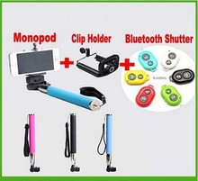 2015 Remote Control for Smartphone 3 in 1 Bluetooth Selfie Stick Camera Monopod Shutter