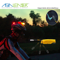Patent No.ZL201530267816.6 Front White and Rear Red Light 2in1 Bicycle Helmet Lights Review