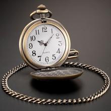 Bronze Pendant Analog Necklace Quartz Retro Pocket Watch