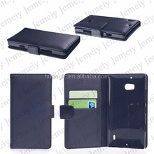 For Nokia Lumia 930 Executive Stitching Wallet Flip Case Cover Folio Stand Premium PU Leather [With card&Cash slot pocket]