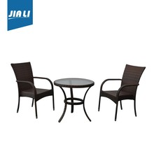 Fashion outdoor furniture simple rattan dining chair and table