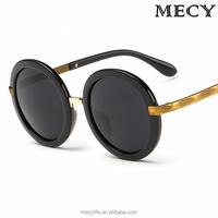 MECY LIFE High quality sunglasses round frame retro reflective sunglasses
