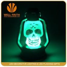 Flashing Skull Smile-Face Devil Colorful Lamp Pumpkin arylic LED night light For Halloween deocration corridor