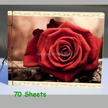 70 Sheets Handmade drawing notebooks for school children, Red Rose printing design drawing books