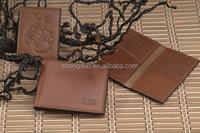 Westen Old Fashion Custom Good Craft PU Leather Purse Wallet