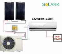12000BTU 1.5HP Solar wall mounted hybrid solar air conditioner