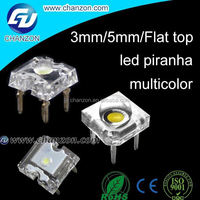 Brand new multicolor color 4-Pin 3mm / 5mm / flat top Super Flux piranha led diode