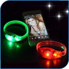 2015 Popular Sound Activated LED wristband Motion Sensor Glow Bracelet