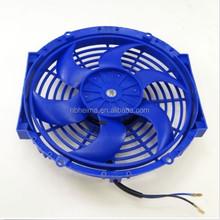 "10"" inch Universal Slim Fan Push Pull Electric Radiator Cooling 12V Mount Kit BU"
