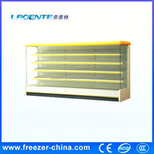 vertical chiller supermarket open front refrigerator curved glass freezer etl with air curtain
