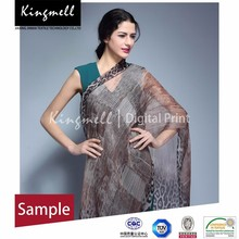 جودة عالية للتخصيص الفورية digtial طبع الحرير وشاح شال