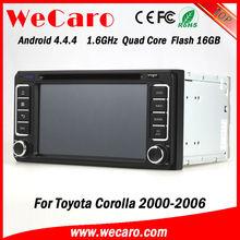 Ultra HD 1024*600 Capacitive screen android 4.4.4 car dvd for toyota corolla 2005 GPS navigator TV Radio tuner CD Player
