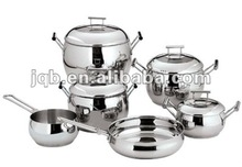 SS 18 8 Low price and High-grade 10 pieces stainless steel pot sets