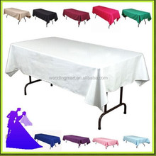 Factory Price !!! 100%Polyester Rectangle Table Cloth In Many Color And Size