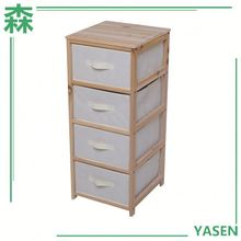 Yasen Houseware Solid Wood Drawer Cabinet,Wall Mounted Drawer Cabinet,4 Tier Tall Drawers Cabinet