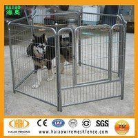 Made in China durable cheap galvanized welded wire mesh outdoor portable dog runs fence