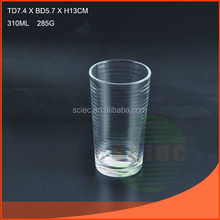 Hot selling clear machine made glass cup with fast delivery
