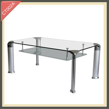 High quality best price simple elegant modern glass dinning tables
