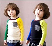2014 new design hot sale- kids long sleeves fall winter t-shirt