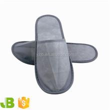 Gray Nonwoven Disposable Hotel Bath Slippers