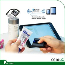 Portable image scanner 1d bluetooth wireless barcode scanner window/IOS reader with rechargeable battery