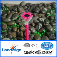 2016 decorative holiday lighting multi-colored mini solar plastic flower stake light for Christmas