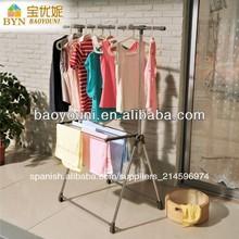 Balcón baoyoni secado de la ropa de rack de un solo polo estante de la ropa dq-0028d