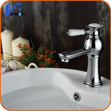 Watermark wholesale brass low price deck mounted single hole bathroom faucet