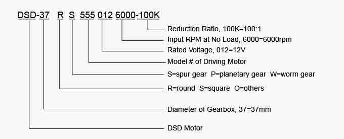 DSD-27RS370 27mm 12V spur gear motor for Drive the machine tool