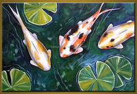 modern fish abstract decorative oil painting